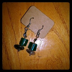 Natural amethyst handcrafted earrings!